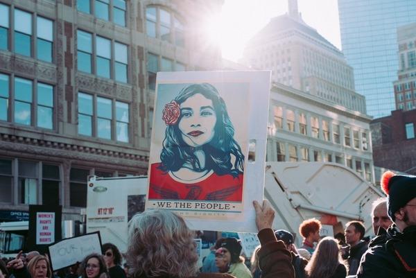 pancarte et peuple